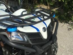 allestimento veicoli polizia locale -allestimento QUAD regione marche - dettaglio luci supplementari - CELIANI ALLESTIMENTO VEICOLI SPECIALI