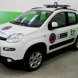 allestimento fiat panda protezione civile - barra intav - celiani allestimento veicoli