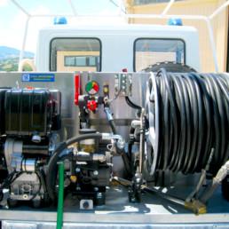 veicoli protezione civile_dettaglio vano posteriore modulo antincendio_celiani allestimento veicoli e forniture